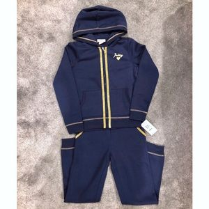 Navy Blue & Gold Girls JUICY COUTURE Tracksuit, 12